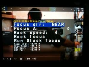 Focus screen